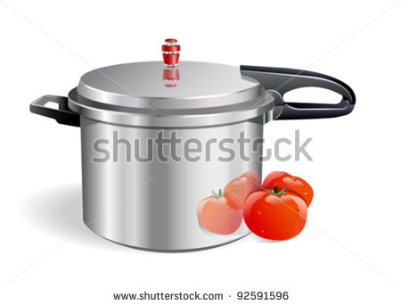 stock-vector-sleek-pressure-cooker-and-tomatoes-92591596
