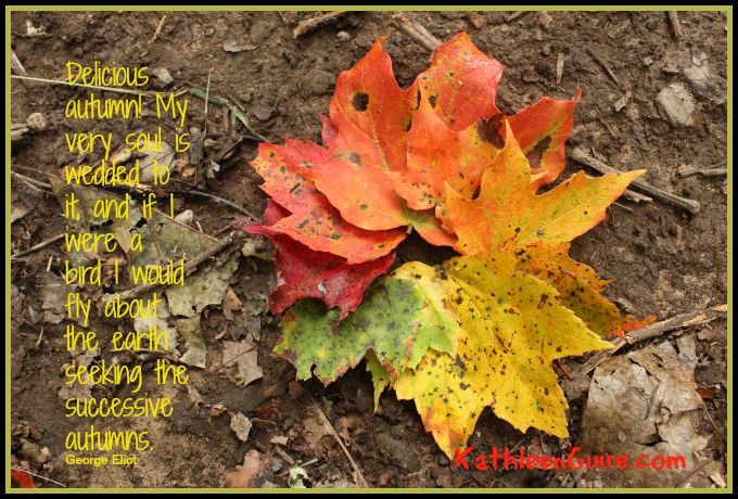 Wreath of leaves quote