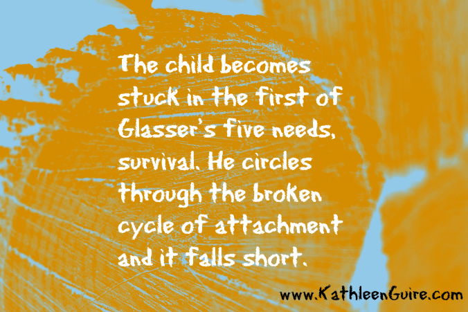 The child becomes stuck