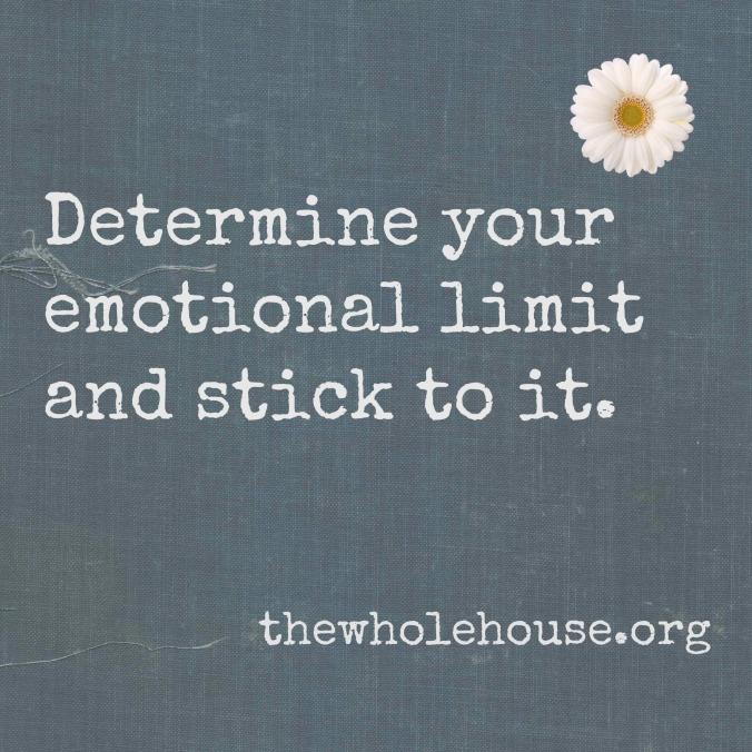 Determine your emotional limits