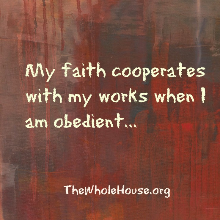 My faith coooperates