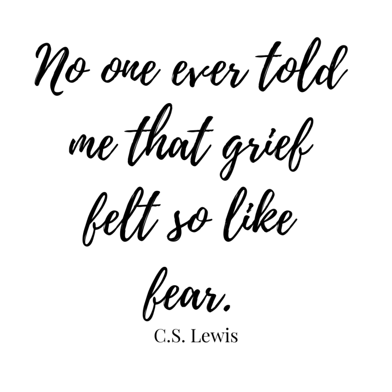 er told me that grief felt so like fear