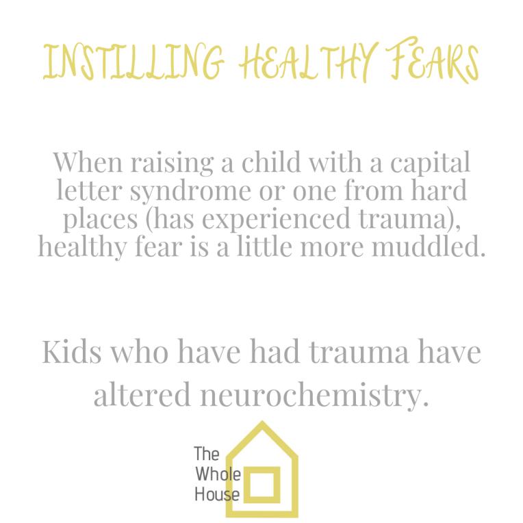 Instilling Healthy Fears